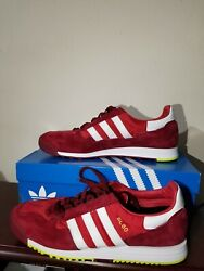Adidas Men#x27;s SL80 Lace Up FV4418 Casual Sneakers Red burgundy Size 9 for Men $73.99