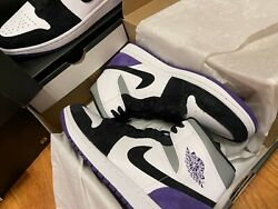 *NEW* Nike Air Jordan 1 Mid SE Purple Men *SIZE 9 AND 12* $155.00