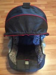 EVENFLO Embrace Baby Car Seat Cover Cushion Canopy Part Replacement Black White $24.99