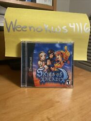 Skies of Arcadia Dreamcast Reproduction CASE amp; ART only no disc Double Disc Case $13.99