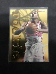 1996 97 NBA Hoops Allen Iverson Rookie Gold Foil Embossed Insert #12 of 30 $25.00