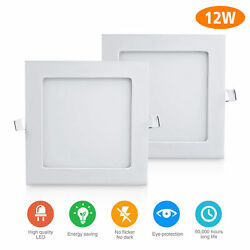 2PACK 12W LED Recessed Ceiling Down Light Bulb Lamp Small Panel Light Cool White $26.99