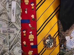40 Mens Novelty Tie Lot HARRY POTTER RALPH MARLIN LOONEY TUNES WILDLIFE Neckties $32.00