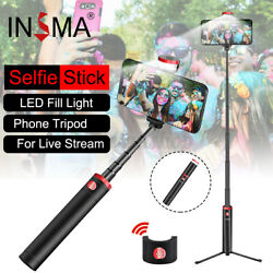 All in 1 Portable Selfie Stick Tripod bluetooth Remote Control LED Fill Light US $15.30