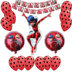 miraculous ladybug Balloons birthday Party Decorations set Ladybug party set $15.99