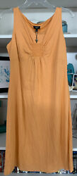 Talbots Sleeveless Orange Dress Size Petites M NWT