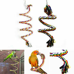 Pet Large Cotton Perch Cage Swing Bird Parrot Bite Chew Toy Rope Climbing Toy $9.99