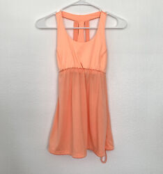 C9 Champion Bra Tank Top Womens Size Small Orange Racerback Sleeveless Athletic $9.59