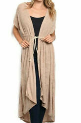 Cardigan Terry Beach Cover up Long Robe NEW $28.00
