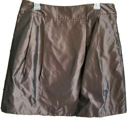 Rebecca Moses Womens Brown Short Skirt Party Casual Formal Size 12 New $21.96