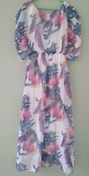 Women#x27;s Dress Floral cocktail party Made in Italy Size M $15.00