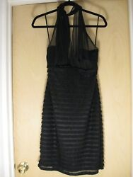 Connected Apparel black cocktail dress size 12 NWT