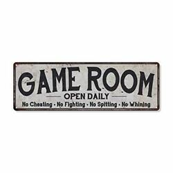 Game Room Sign Vintage Decor Wall Signs Gameroom 6quot; x 18quot; Economy Gloss $45.08