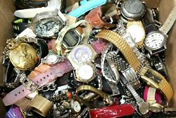 Vintage Now Variety Women Men Watches Over 11 LBS Parts Repair $75.00