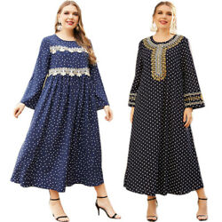 Abaya Dubai Kaftan Women Long Dress Muslim Jilbab Loose Party Gown Ramadan Robe C $40.94