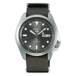 Seiko 5 Sports 40mm SS Grey Dial And Nylon Strap Automatic Watch SRPE61K1 $165.00