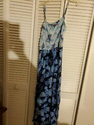 TALBOTS CLASSICS NAUTICAL COTTON SUN DRESS COVER UP;SIZE MEDIUM;BNWOT $24.89