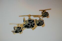 US USA 4 Huey Helicopter Large Military Hat Lapel Pin $7.99