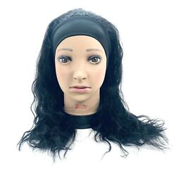 Human Hair Headband Wigs for Black Women Natural Hair Wig With Headband color 1B $49.99
