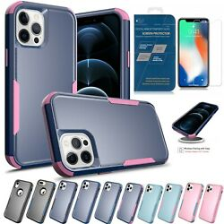 Shockproof Case For iPhone 12 11 Pro Max XR XS 7 8 Plus Cover Tempered Glass $7.99