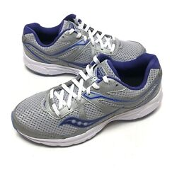Saucony Grid Cohesion 11 Running Womens Shoes Sz 9 W Blue Gray Purple S10421 6 $37.99
