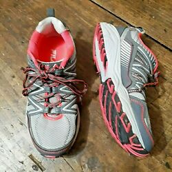 Fila Womens Shoes Size 8.5 Trail Running Sneakers Grey Pink Mesh Athletic $18.52
