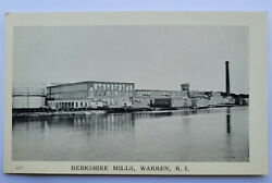 Warren RI Rhode Island Berkshire Mills RPPC Photo Postcard $19.00