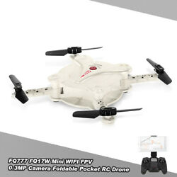FQ777 FQ17W Pocket Drone WIFI FPV with 0.3MP Camera RC Quadcopter Toy Gift J3C8 $30.77