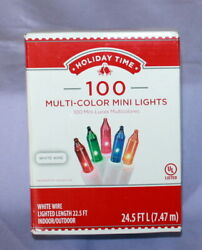 Holiday Time Mini Lights quot;Multicolorquot; 100 Ct 22.5 Ft Light Length Indoor outdoor $8.00