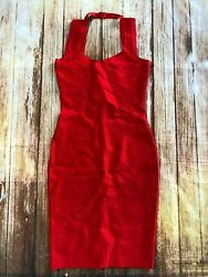 Herve leger Bodycon Bandage Dress Cocktail Red Mini Sexy A322 *S $65.00