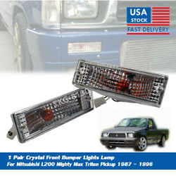 1 PAIR CRYSTAL FRONT BUMPER LIGHT LAMP FOR Mitsubishi Mighty Max L200 1986 1994 $26.86