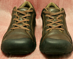 KEEN Briggs Mens Brown Leather Oxford Cascade Hiking Size 13 Shoes 1011392 $39.95