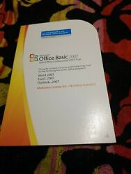 Microsoft Office Basic 2007 w Office Professional TRAIL Word Excel Outlook $12.99