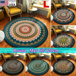 Circle Area Rugs Retro Small to Large Floor Living Room Hall Bedroom Round US $14.99