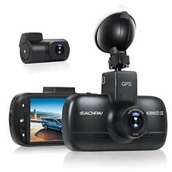 Dual Lens Car Camera WiFi Dashcam for Cars Built in GPS Suction Mount $211.72