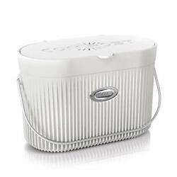 COMPi Bamboo Fiber Indoor Kitchen Compost Bin with Lid 1.3 Gal 1.3gal White $64.37