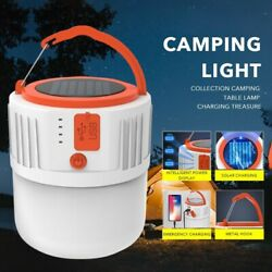 20W Solar Flashlight LED Bulb Portable Outdoor Camping Tent Rechargeable Lamp $21.00