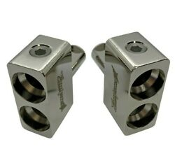 Pair of ILL Customz Dual 1 0 AWG to 1 0 0 Gauge Offset Amp Inputs $16.99