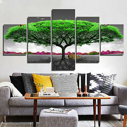 5 Panels Art Oil Unframed Paintings Pictures Wall Hanging Modern Canvas Mural $20.80