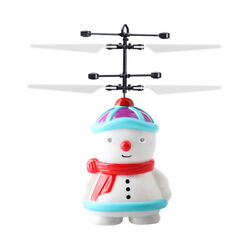 Snowman Induction Aircraft USB Rechargeable Snowman Flying Helicopter Toy $7.69