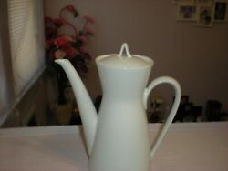 Rosenthal Tea Coffee Pot Continental Classic Modern White Selb Germany Porcelain $35.99