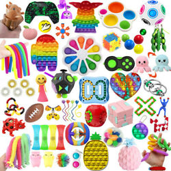 1 100 Pack Fidget Sensory Toys Set Stress Relief Anxiety Toy Kids Autism Relief $16.99