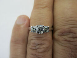 MAGIC GLO 1.25 Carat Platinum amp; 14K Gold Engagement Ring Cen=.65 D SI1 Value=$7K $1500.00