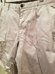 Theory Designer Men#x27;s Gray Chino Shorts SZ 36