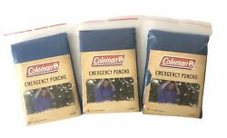 Coleman Emergency Poncho Disposable One Size Fits All NOS 2008 $15.00