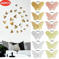 36pcs 3D Butterfly Wall Stickers Removable Mural Decals DIY Art Home Decoration $8.99