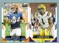2021 Score Football ROOKIES RCs #301 400 Complete Your Set You Pick
