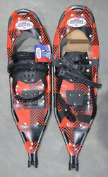 BRAND NEW PAIR REDFEATHER ALPINE 30 SNOWSHOES REDamp;BLACK PATTERN W CARRY BAG USA $120.00