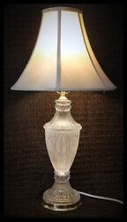 Lead Crystal Vintage Lamps Yugoslavia Zajecar Crystal 24% lead Etched Hand cut $85.00