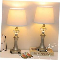 Modern 3 Way Dimmable Table Lamps for Living Room Set of 2Touch Control $98.03
